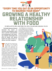 Article cover titled Growing a Healthy Relationship with Food